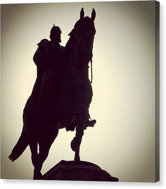 Germany Canvas Print - Monument Emperor And Horse by Matthias Hauser