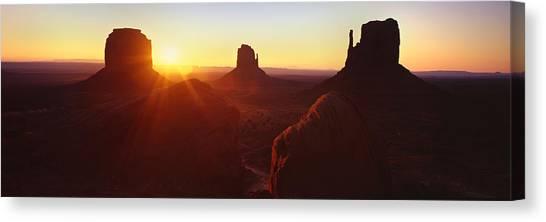 Desert Sunrises Canvas Print - Monument Valley Sunrise by Steve Munch