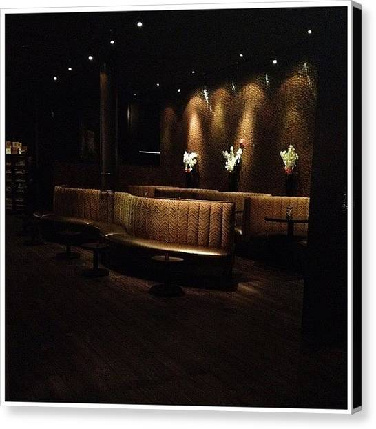 Restaurants Canvas Print - Mood by Natasha Marco