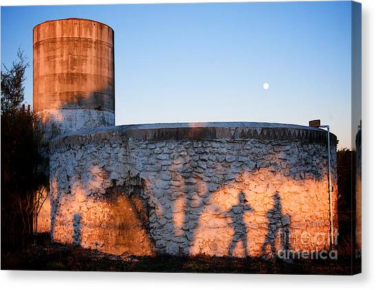 Moon And Shadow Canvas Print