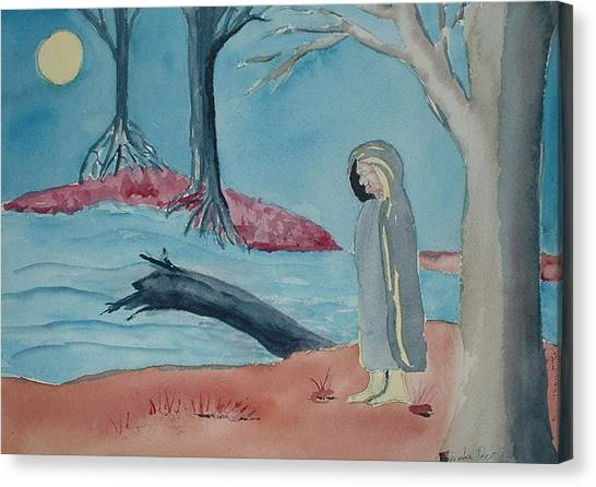 Moon Blanket Canvas Print by Linda Pope