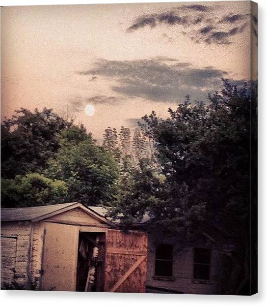 Barns Canvas Print - Moon by Emily Moore