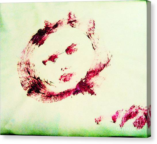 Moon Face Canvas Print by Raul Morales