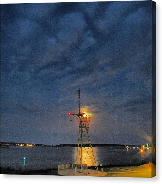 Maine Canvas Print - Moon Flags Eastern Prom. #070312 by Chris T Darling