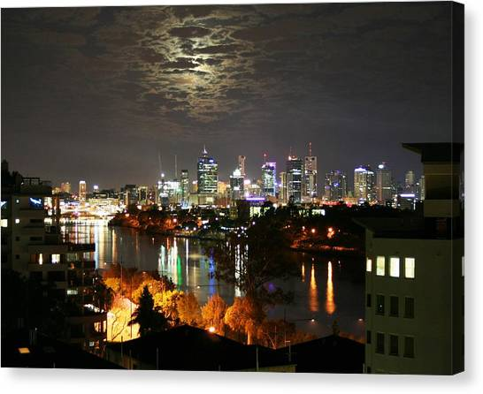 Moon Light Lace Of Brisbane Canvas Print