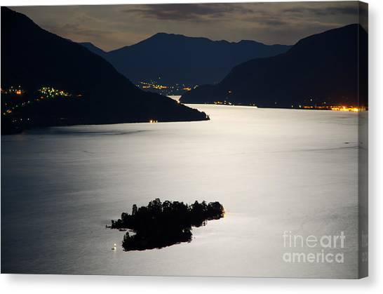 Moon Light Over Islands Canvas Print