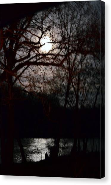 Moon Over Maury Canvas Print
