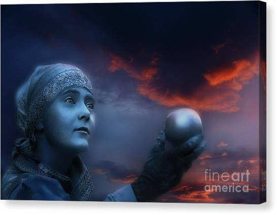 Moon Sister  Apple Canvas Print