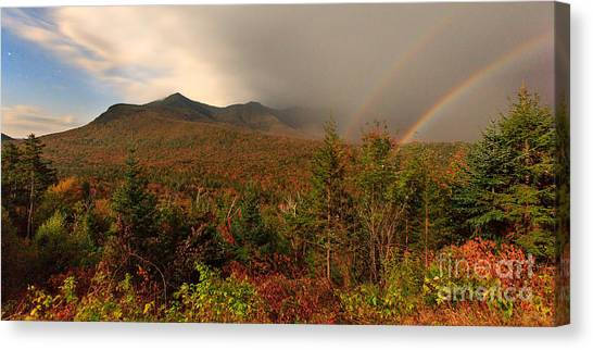 Moonbow Over The Kancamagus Canvas Print
