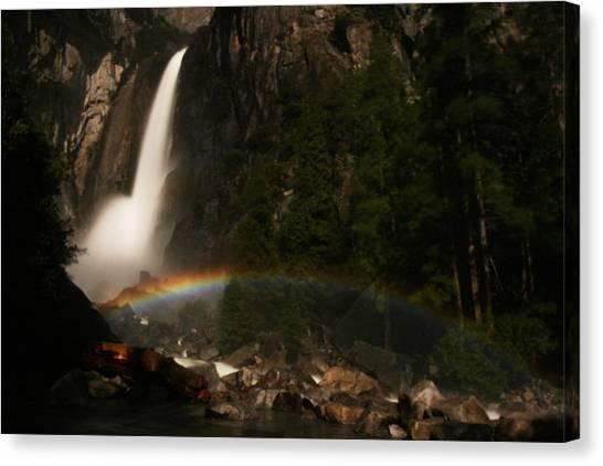 Moonbow Yosemite Falls Yosemite National Park Canvas Print