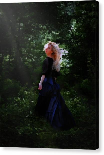 Beam Canvas Print - Moonlight Calls Me by Nikki Marie Smith