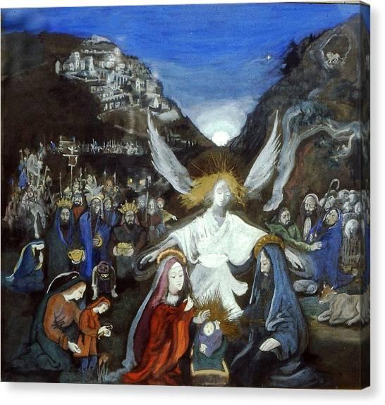 Moonlight Nativity Canvas Print