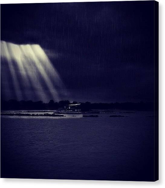 Lightning Canvas Print - [moonlight Through The Eye Of The Storm] by Ben Leser