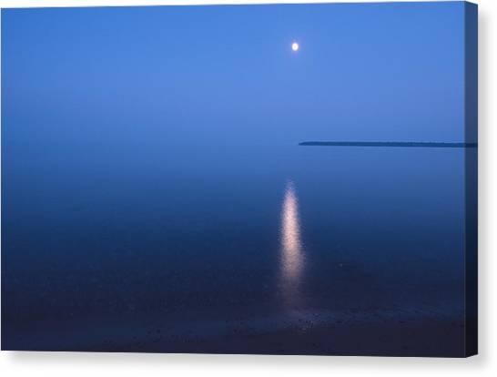 Moonrise On Lake Superior Canvas Print