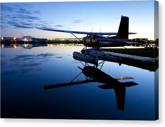 Cessnas Canvas Print - Moored For The Night by Tim Grams