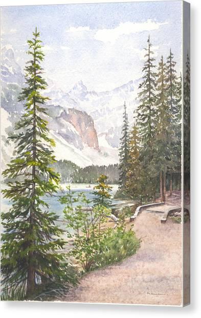 Moraine Lake Canvas Print by Maureen Carter