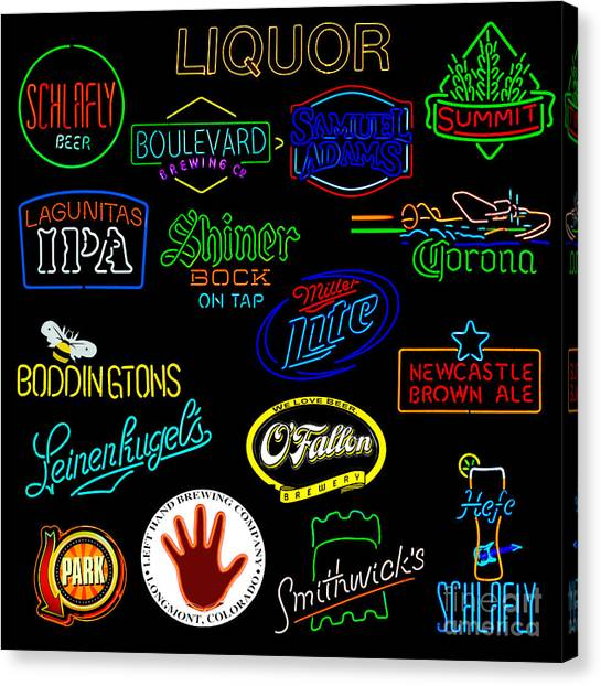 Saint Louis University Canvas Print - More Bar Neon Signs by Tim Mulina