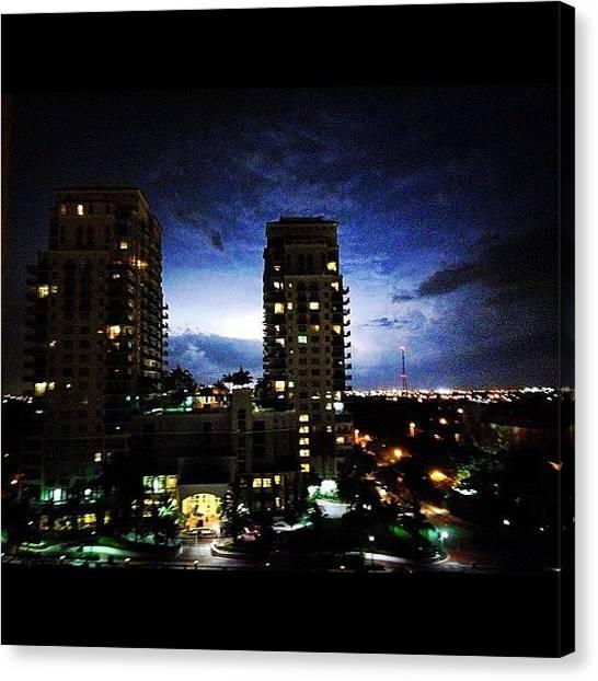 Lightning Canvas Print - More #heatlightning #igersftl by Lauderdale Ashley