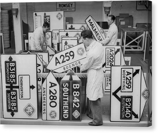 More Roadsigns Canvas Print by Ward
