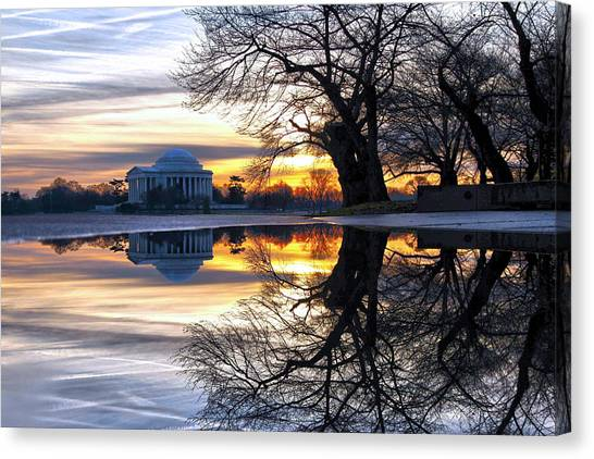 Jefferson Memorial Canvas Print - More Than Gold by Mitch Cat