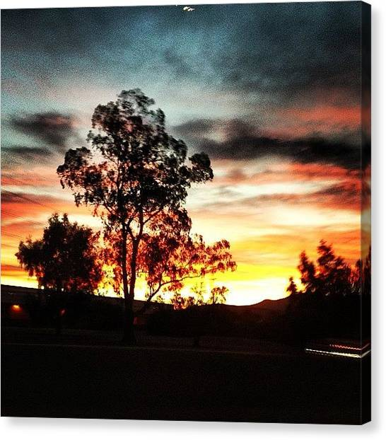 Basketball Teams Canvas Print - #morning #awesome #sun #sunrise #cold by M Martin