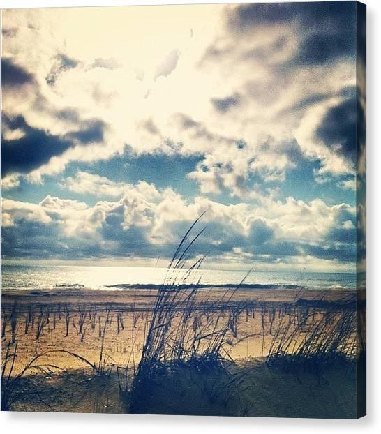 Ocean Sunrises Canvas Print - Morning Boardwalk Stroll. by Jordan Roberts