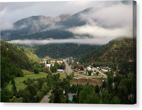 Morning Clouds Over Red River Canvas Print