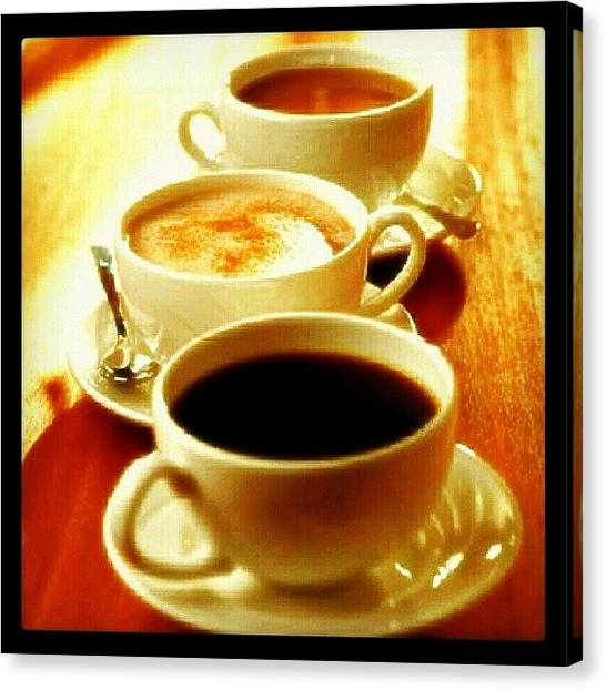Tea Canvas Print - Morning Cup(s). #caffeine #ilovecoffee by Mary Carter