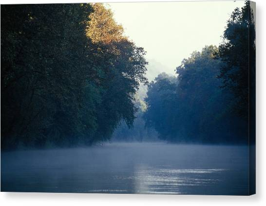 Mammoth Cave Canvas Print - Morning Fog On The Green River by Raymond Gehman