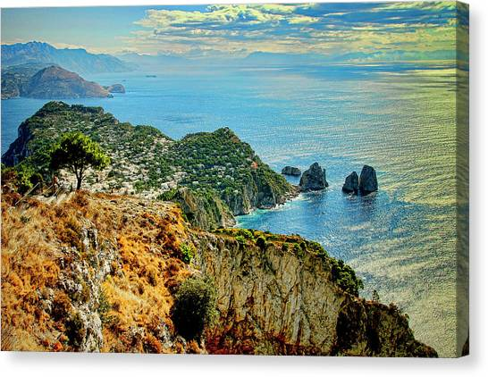 Morning In Capri Canvas Print by Andre Salvador