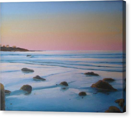Morning Low Tide Canvas Print by Mark Haley