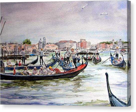 Morning On Grand Canal Canvas Print