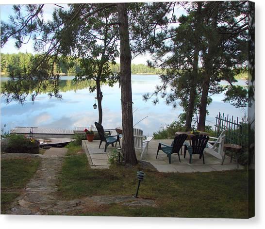 Morning On Pine Lake 2 Canvas Print