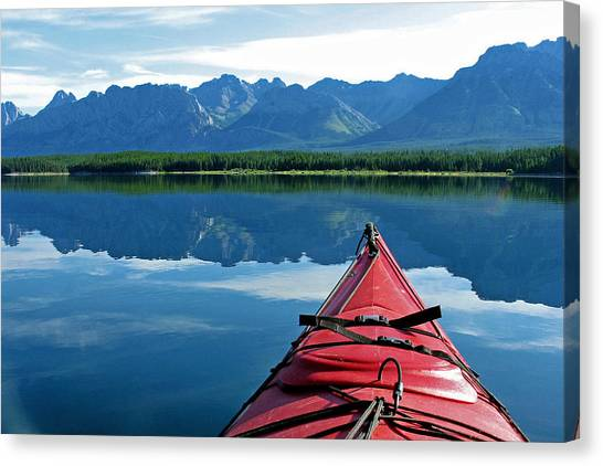 Morning Paddle Canvas Print
