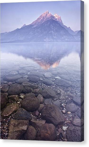 Mountains Canvas Print - Morning Reflection  by Andrew Soundarajan
