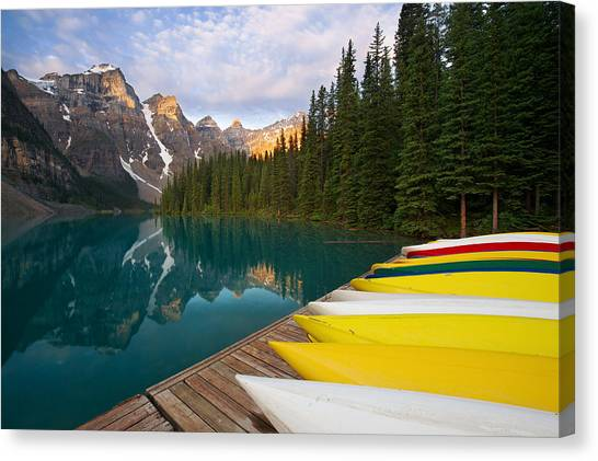 Canada Glacier Canvas Print - Morning Solace by Bernard Chen