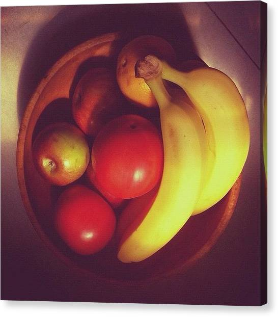 Bananas Canvas Print - #morning #sunlight #colors #fruit by Donny Bajohr