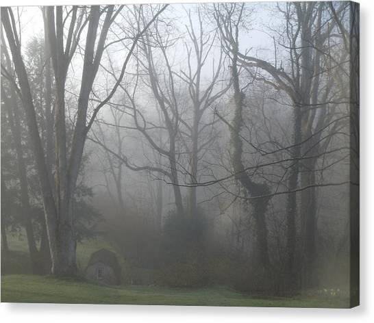 Morning Winter Fog Canvas Print