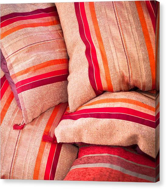 Selection Canvas Print - Moroccan Cushions by Tom Gowanlock