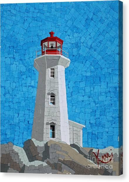 Mosaic Lighthouse Canvas Print