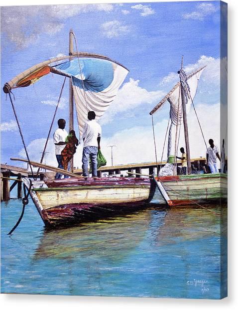Mosambique Fishermen Canvas Print