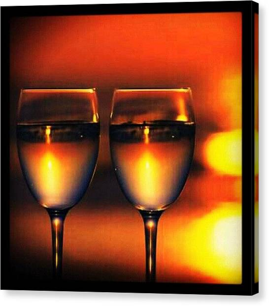 Wine Canvas Print - Moscato For 2...delish! #wine #vino by Mary Carter