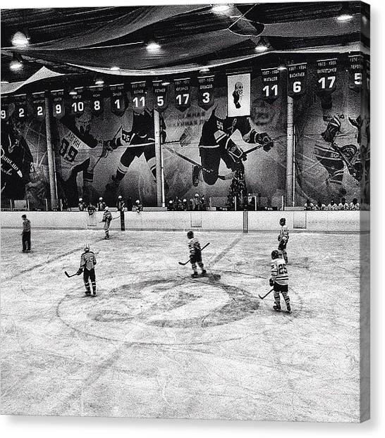 Hockey Canvas Print - #moscow #porusski #igerspescara by Marianna Garmash