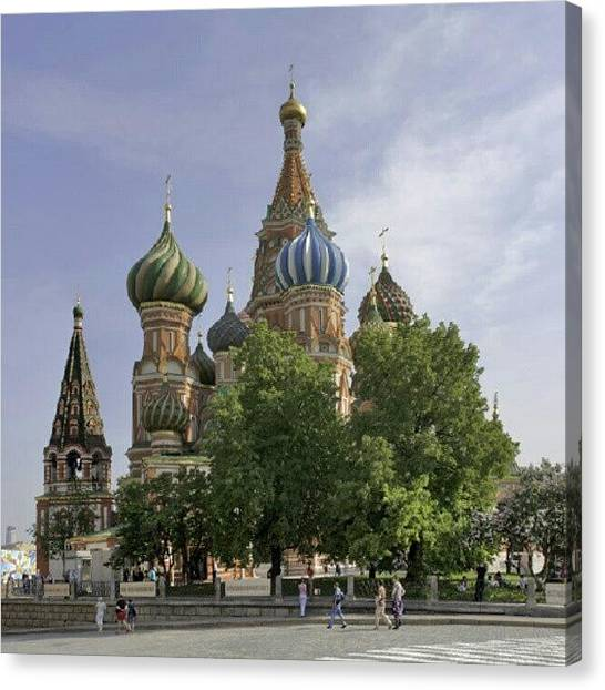 Saints Canvas Print - #moscow #red Square #saint Basil's by Andrey Suchkov