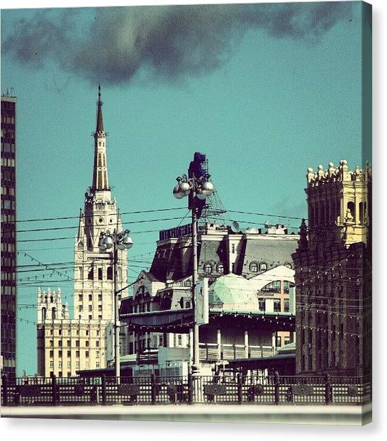 Russian Canvas Print - #moscow #russia From Some Time Ago by Alexandra Cook