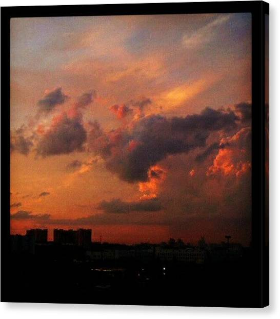 Russian Canvas Print - #moscow #sunset From Some Time Ago by Alexandra Cook