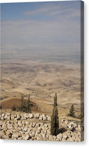 River Jordan Canvas Print - Moses First Saw The The Holy Land by Taylor S. Kennedy