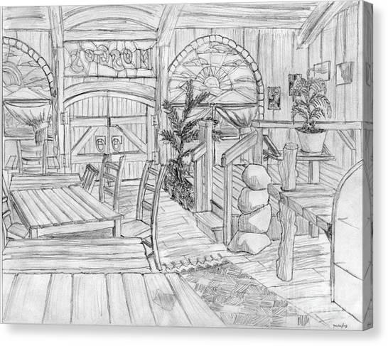 Mosgo's Cafe Canvas Print by Jonathan Armes