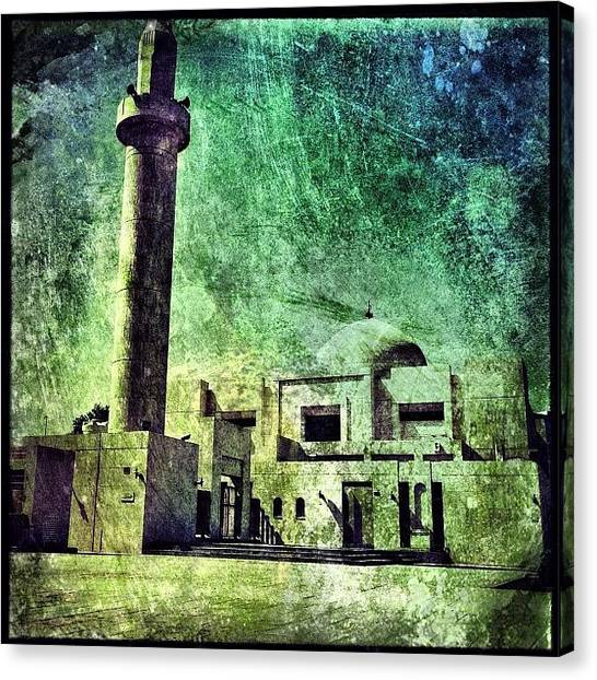 Islam Canvas Print - Mosque In Doha #iphone #instagram by Roberto Pagani