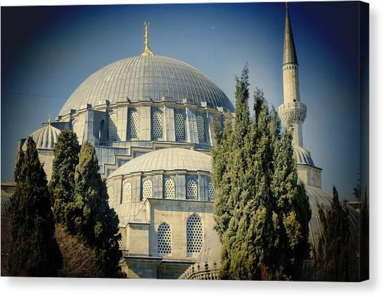 Suleymaniye Canvas Print - Mosque Magnificent by Joan Carroll
